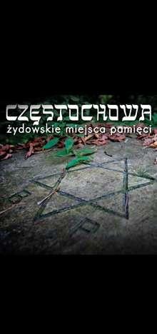 Okładka ulotki Częstochowa Żydowskie Miejsca Pamięci