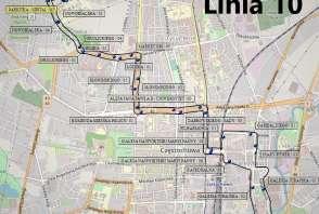 Mapa - Linia 10