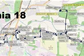 Mapa - Linia 18
