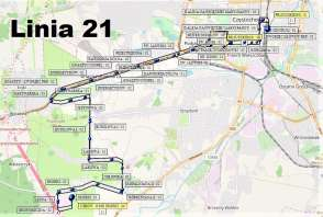 Mapa - Linia 21