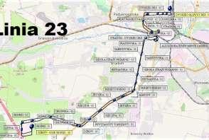 Mapa - Linia 23