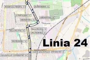 Mapa - Linia 24