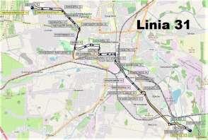 Mapa - Linia 31