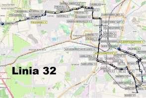 Mapa - Linia 32