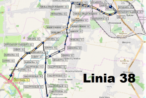 Mapa - Linia 38