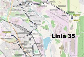 Mapa - Linia 35
