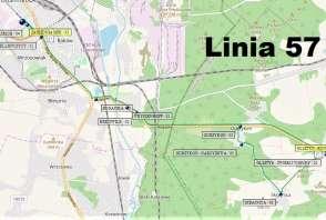 Mapa - Linia 57