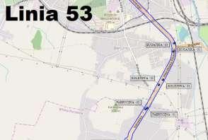 Mapa - Linia 53
