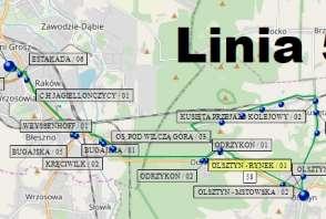 Mapa - Linia 58