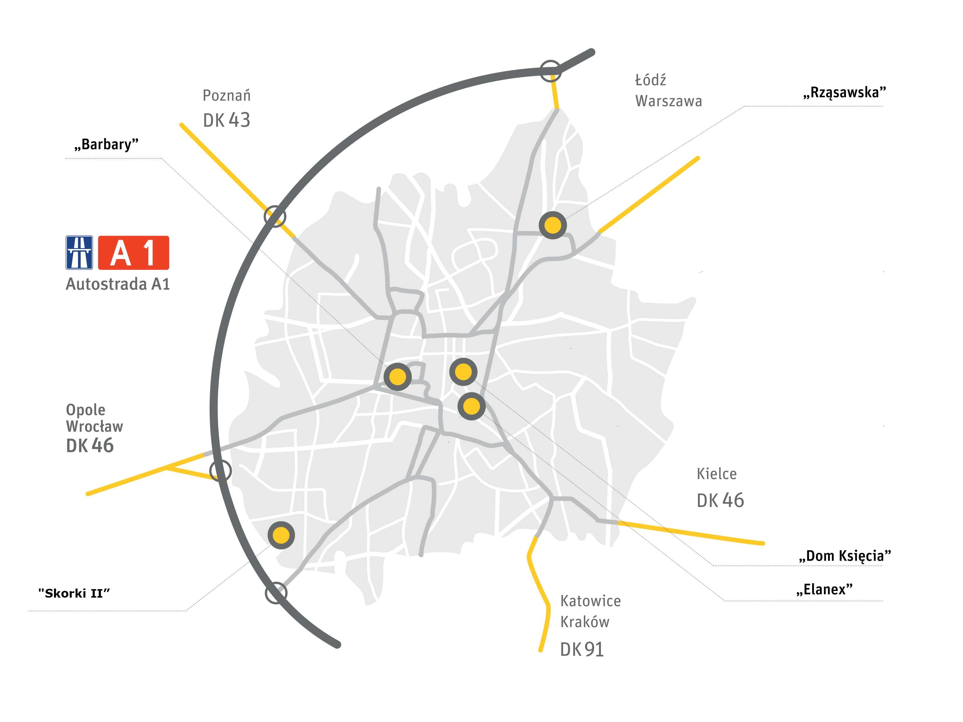 Mapa terenów inwestycyjnych miasta Częstochowy