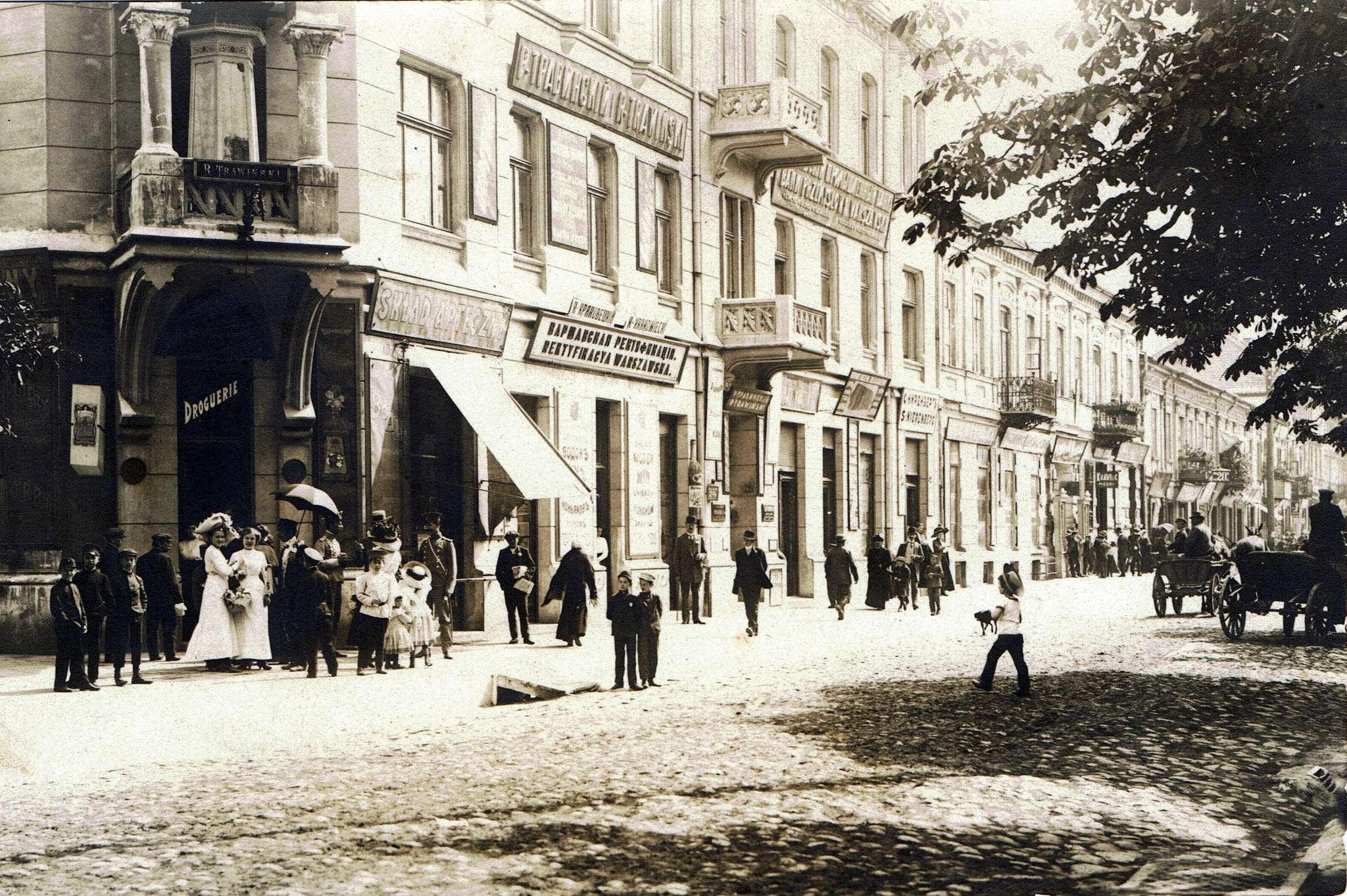 Ulica miasta z początku XX wieku