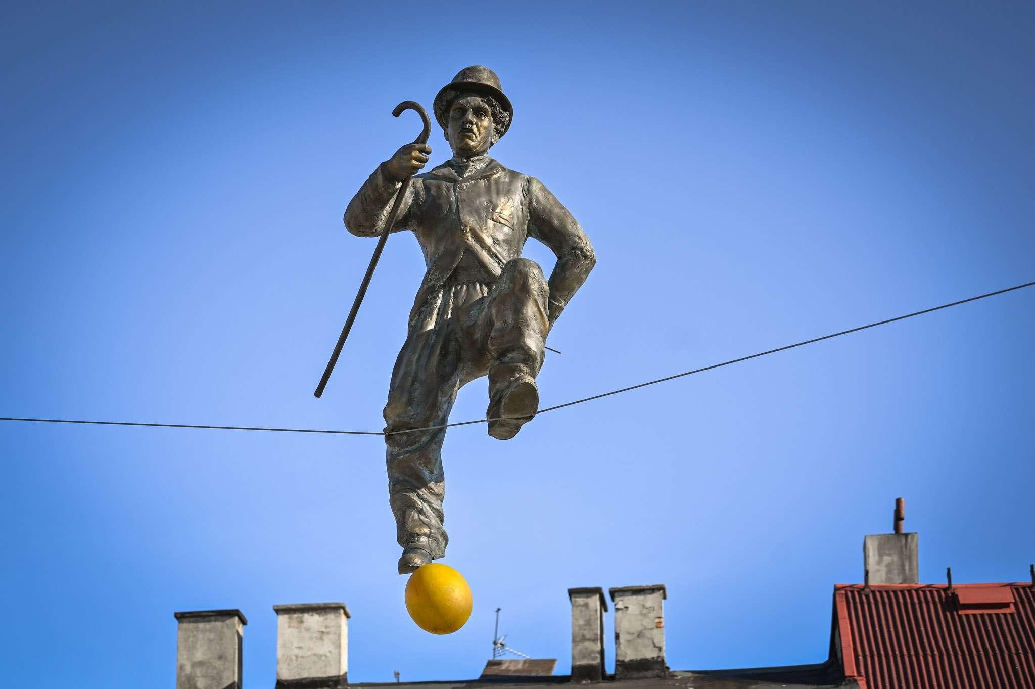 Rzeźba Charlie Chaplin
