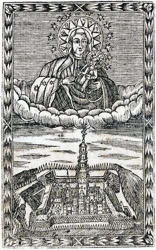 Rycina z Novej Gigantomachii A. Kordeckiego, 1717 rok